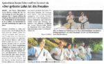 Bericht Rontaler neue Karateschule Ebikon, November 2015